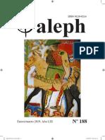 Revista Aleph No. 188 Enero / Marzo 2019. 53 años!