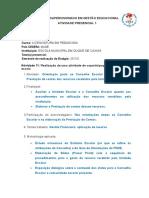 AP1 Estágio Em Gestão - Licenciatura Em Pedagogia CEDERJ