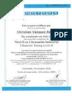 ultrasonic certificatio