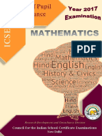 Mathematics ICSE 17
