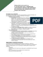 La administración local en la Constitución Española