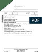 Olevel Biology P6 5090_s18_qp_62