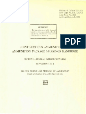 57 Amm 5541, Joint Services Ammunition and Ammunition