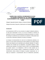 DISEÑO PARA CONTROL DE EMISIONES DE ÁCIDO SULFHÍDRICO EMANADO DE LOS TANQUES DE ALMACENAMIENTO DEL ACTIVO DE PRODUCCIÓN SAMARIA LUNA