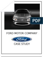 Strategic Analysis on Ford motor