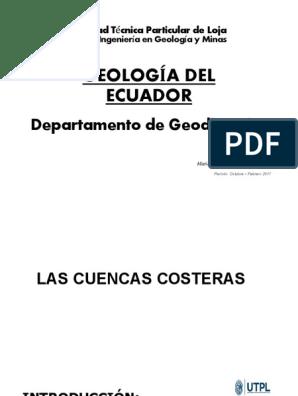 Geologia Ecuador Tema8 Costa Falla Geología Geología