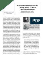 A Epistemologia Religiosa de Thomas Reid e a Ciência Cognitiva Da Religião 1