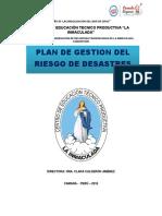 346875674 Plan de Gestion Del Riesgo de Desastres Cetpro La Inmaculada Docx