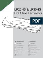 Laminator LP25 35HS UserGuide
