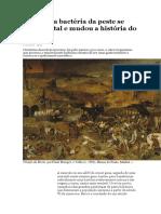 De como a bactéria da peste se tornou letal e mudou a história do mundo ANA GERSCHENFELD  01/07/2015