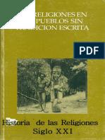 (Henri-Charles Puech) - Las Religiones en Los Pueblos Sin Tradicion Escrita