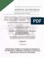 Ordenanzas San Diego