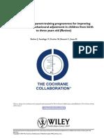 Parent Programme Improving Emotional Adjustment Children Cochrane Database of Systematic Reviews 25 09