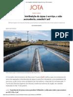 Carf_ Captação e Distribuição de Água é Serviço, Não Mercadoria