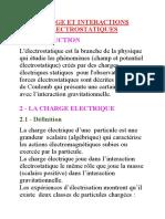Charge Et Interactions Electrostatiques