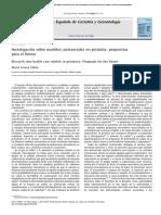 Investigacion Sobre Modelos Asistenciales en Geriatrıa