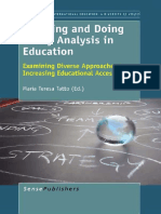 (Comparative and International Education 16) Maria Teresa Tatto (Auth.), Maria Teresa Tatto (Eds.)-Learning and Doing Policy Analysis in Education_ Examining Diverse Approaches to Increasing Education