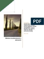 Métodos de administración y planeación
