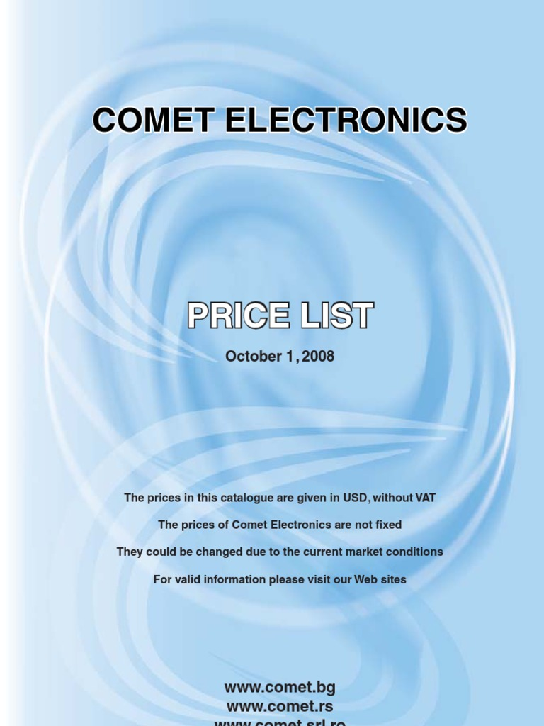 Comet Electronics Price List Microcontroller Integrated Circuit Society 3vdc To 24vdc Power Supply Electronic Schematic