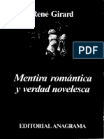 R Girard Mentira Romantica y Verdad Novelesca PDF