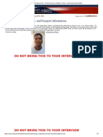 Non-Immigrant Visa - Review Personal, Address, Phone, And Passport Information