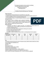 TP 1 Analyse Granulométrique Par Tamisage
