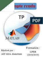 Rapport TP Matlab