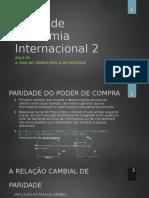 Economia Internacional 2 Aula 6