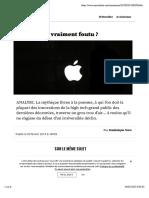 Apple Est-il Vraiment Foutu ?