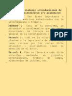 Guía Para Elaborar Introducciones de Trabajos de Científicos y
