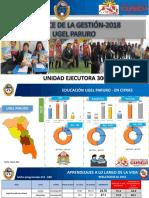 Ugel Paruro 2018  politicas educativas