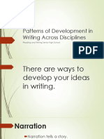 Patterns of Development in Writing Across Disciplines