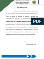 Informe de Responsabilidad Social Empresarial Exalmar