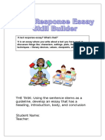 Text Response Essay Skill Builder