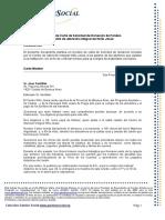 Modelo de Carta de Solicitud Fondos