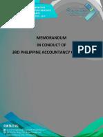 Memorandum Letter PAC 2019