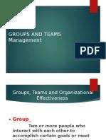 Group & Team Managment Slides
