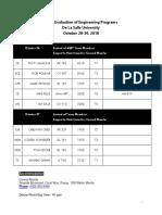 Abet Visit Schedule - Updated 10-25