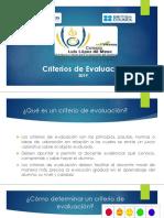 CRITERIOS DE EVALUACIÓN 2019.pptx