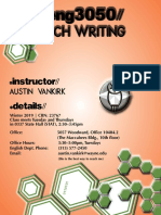 English 3050 Technical Communication and Writing Syllabus Winter 2019 Austin VanKirk