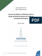Encuesta de Opinión y Calificación sobre Concepción del Uruguay