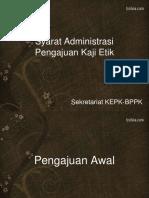Syarat Administrasi Kaji Etik KEPK BPPK