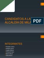 Candidatos a La Alcaldía de Milagro