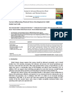 Factors Influencing Thermal Stress Development in Solid