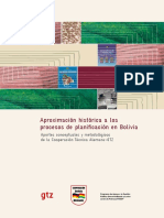 Aproximación histórica a procesos de Planificación en Bolivia
