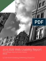 b2b Web Usability Report 2015