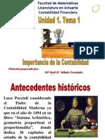 Unidad 1. Antecedentes históricos de la contabilidad.) Contabilidad Financiera definiciones