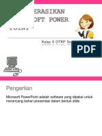 Latihan Mengoperasikan Microsoft Power Point