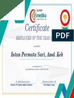 Certificate 2018 EMPLOYEE