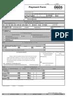 BIR Form 0605 Payment Form